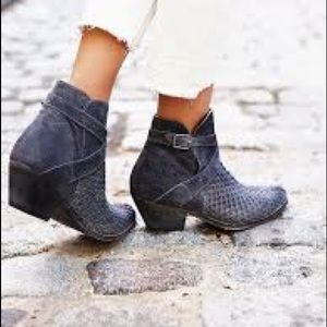 Free People Venture Woven Leather Boots in Gray